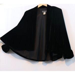 Alex Evenings Black Velvet Swing Jacket